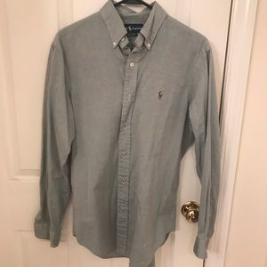 Men's button down polo